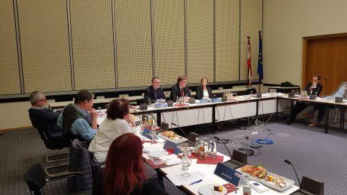 Chef des Berliner Verfassungsschutzes beim 2. Politischen Gesprächskreis jüdischer Berliner