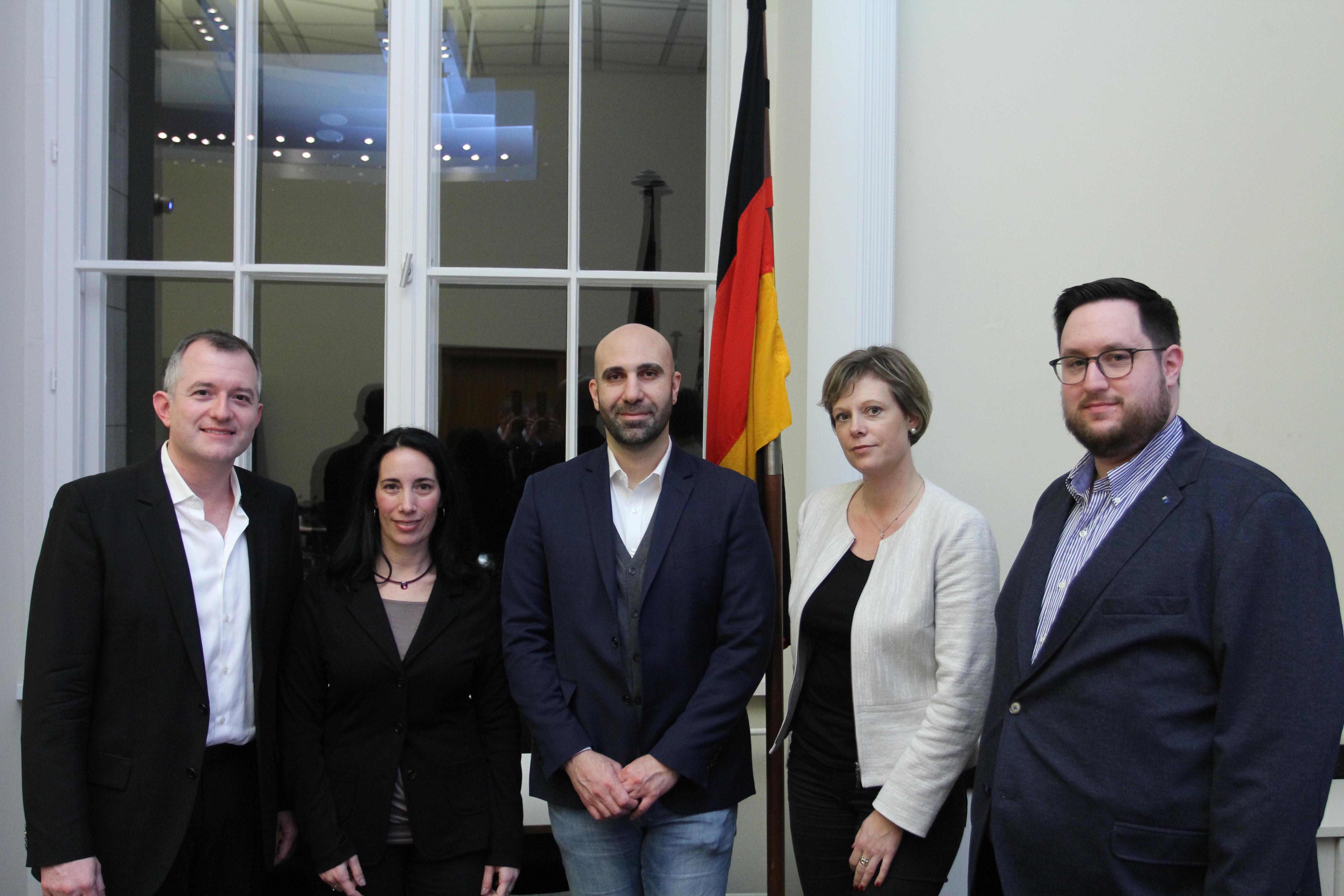 Ahmad Mansour beim politischen Gesprächskreis jüdischer Berliner der Berliner CDU Fraktion.