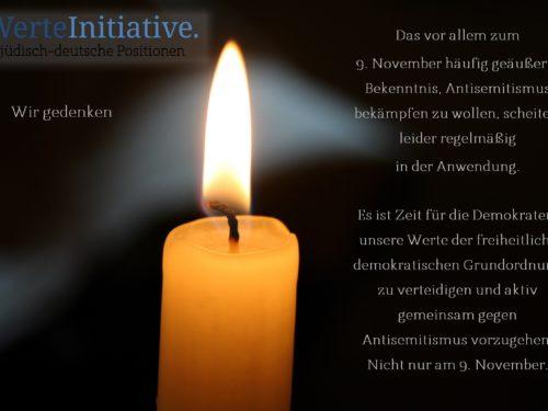 Antisemitismus bekämpfen - nicht nur zum 9. November