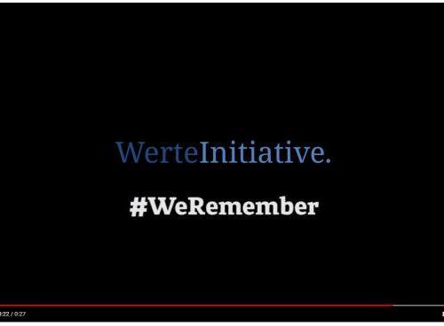 #WeRemember - 27. Januar 2019