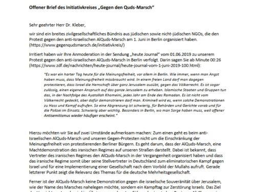 Offener Brief an Claus Kleber