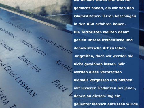 Statement zu den Anschlägen vom 11. September