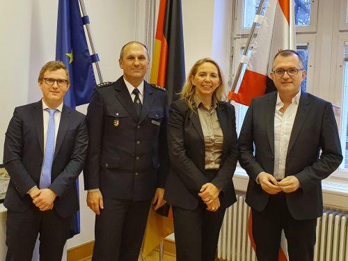 Treffen mit Dr. Barbara Slowik, Polizeipräsidentin von Berlin