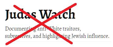 Pressemitteilung: Antisemitische Webseite Judas Watch muss gesperrt werden