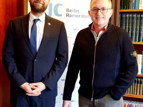 Treffen mit Remko Leemhuis, Acting Director des AJC Berlin