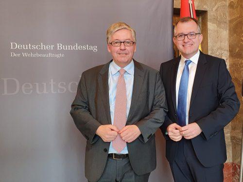 Treffen mit dem Wehrbeauftragten des Deutschen Bundestags, Hans-Peter-Bartels