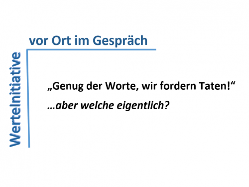 WerteInitiative vor Ort in mehreren deutschen Städten