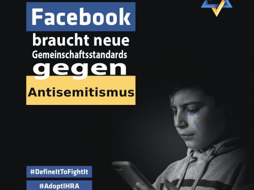 PM: Wir haben zusammen mit über 125 anderen - meist jüdischen - Organisationen Facebook angeschrieben