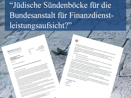 Offener Brief an die BaFin: Jüdische Sündenböcke für die Bundesanstalt für Finanzdienstleistungsaufsicht?