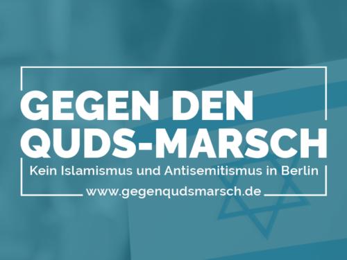 Gegen den Quds-Marsch in Berlin 2021