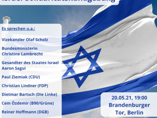 """Kundgebung des """"Solidaritätsbündnis Israel"""""""